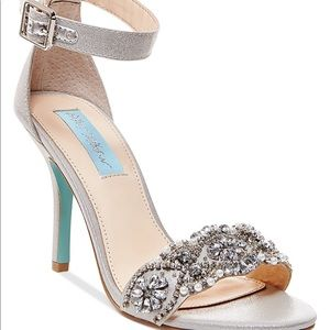 Silver Betsey Johnson Heels